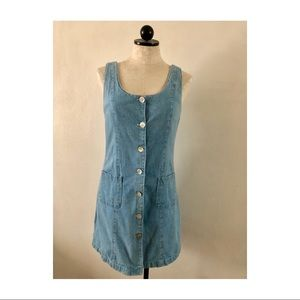 Vintage Harlow denim overall tank dress